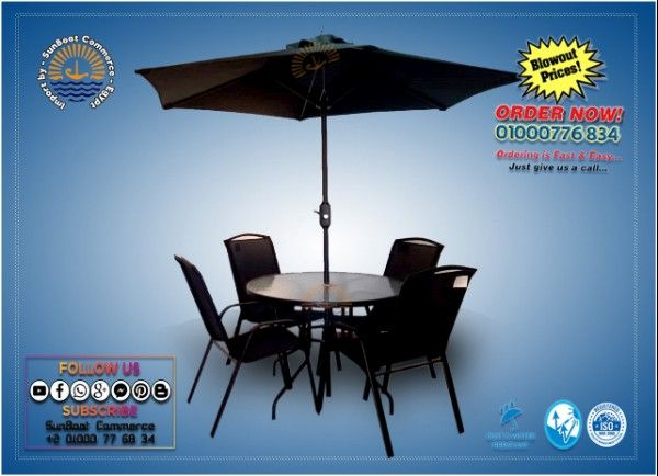 Outdoor garden Furniture - black set