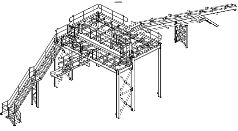 Trusses Warehouse and Steel Structure Design and Full Shop Drawing
