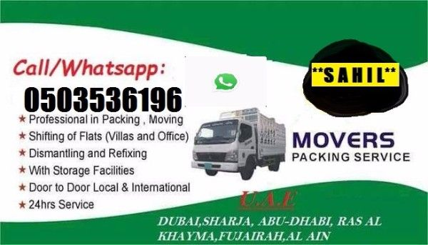PROFEIONAL HOUSE MOVERS AND PACKERS IN BUR DUBAI 0503536196